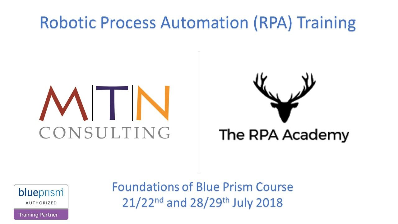 RPA – Blueprism Foundation Training in Sydney
